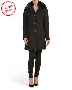 Fit & Flare Wool Coat