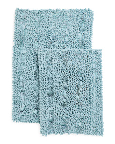 2pc San Remo Chenille Rug Set