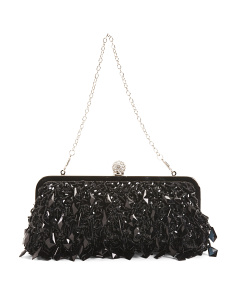 Hanging Gem Kiss Lock Clutch