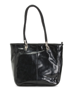 Double Handle Leather Tote
