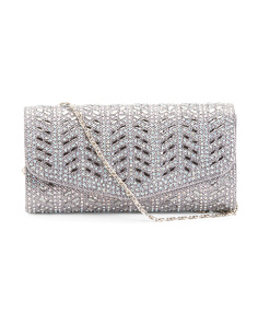 Wave Pattern Gem Clutch