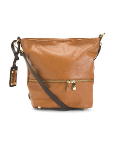 Made In Italy Leather Slouch Crossbody
