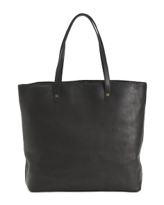 Large Tooled Leather Tote