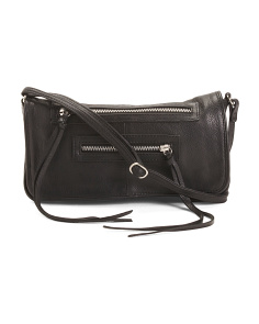 Leather Rose Crossbody