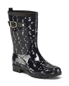 Mid Calf Printed Rainboots