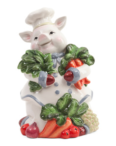 9in Chef Pig Figurine
