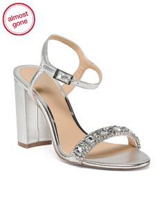 Jeweled Strap Leather Occasion Shoes