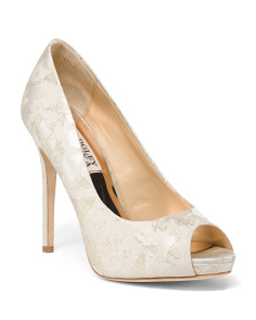 Peep Toe Brocade Occasion Pumps