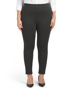 Plus Slimming Ponte Pants