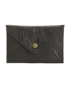 Tooled Designed Leather Pouch