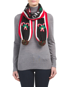 Candy Canes Oblong Scarf