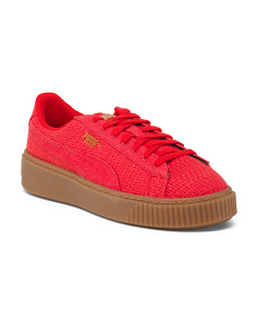 Woven Platform Fashion Sneakers