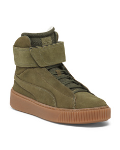 High Top Suede Fashion Sneakers