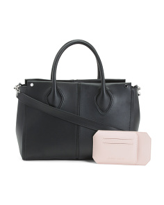 Leather Greenwich Satchel
