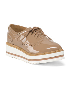 Wedge Lace Up Oxfords