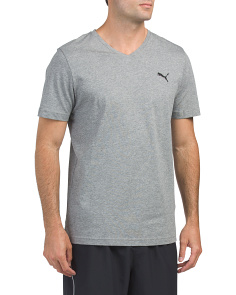 Heather Essential V Neck Tee