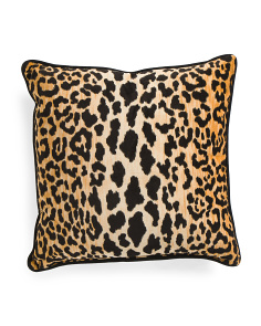 Made in USA 22x22 Velvet Cheetah Print Pillow