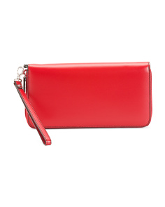 Audrey Vera Leather Wristlet Wallet