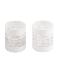 2pc Crystal Old Fashioned Glasses