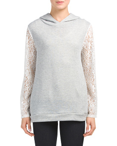 Hoodie With Lace Sleeves