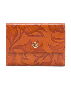 Made In Italy Floral Leather Wallet