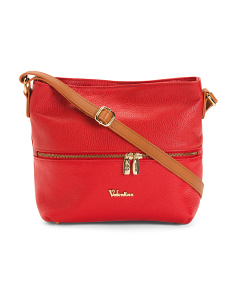 Made In Italy Medium Leather Crossbody