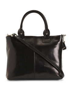 Made In Italy Smooth Leather Tote