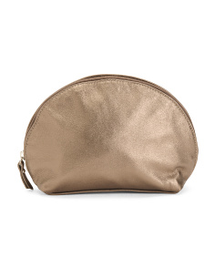 Made In Italy Leather Cosmetic Pouch