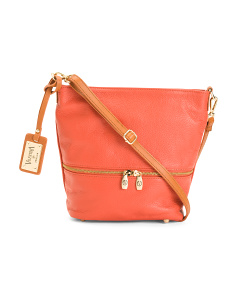 Made In Italy Slouch Top Leather Crossbody