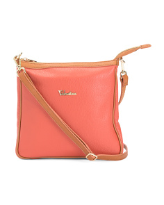 Made In Italy Leather Zip Crossbody