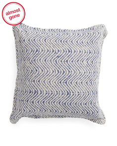 Made In India 19x19 Waves Pillow