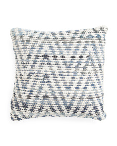 Made In India 20x20 Denim Pillow