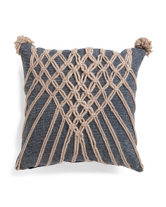 Made In India 20x20 Rope Pillow
