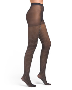 1pk Lurex Striped Tights