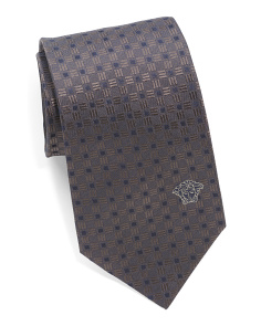 Made In Italy Basket Square Silk Tie