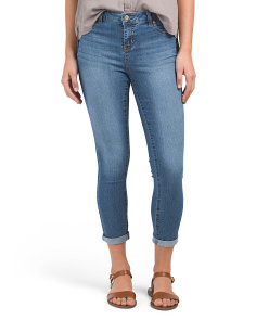 High Waist J Bling Rolled Ankle Jeans