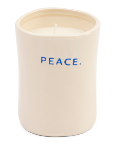 12oz Peace Ceramic Spa Candle