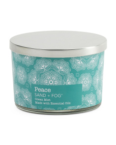 12oz Peace Spa Candle With Metal Lid