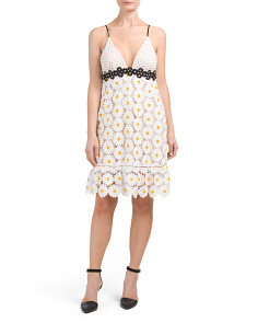 Made In USA Sunflower Lace Dress