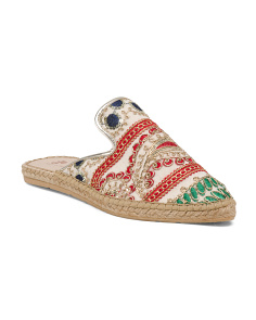 Made In Spain Embroidered Espadrilles