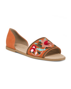 Floral Embroidery Flats