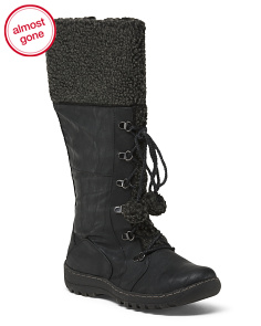 High Shaft Lace Up Boots
