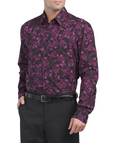 Made In Italy Printed Dress Shirt