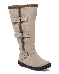 Wide Calf High Shaft Boots