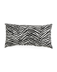 Made In USA 14x26 Zebra Velvet Print Pillow