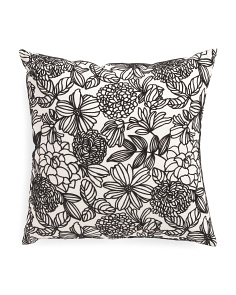 Made In USA 22x22 Print Floral Pillow