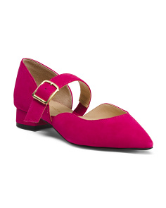Suede Pointy Toe Maryjanes