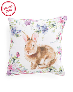 Made In India 20x20 Bunny Pillow
