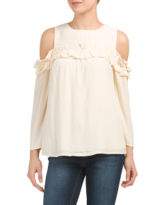Juniors Cold Shoulder Top