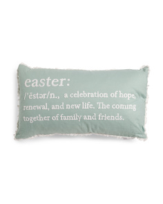 14x24 Easter Definition Pillow